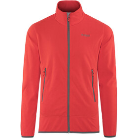 Bergans Lovund Fleece Jacket Men Fire Red/Solid Dark Grey